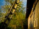 L1001434 Krajobraz z drabiną i stodołą
